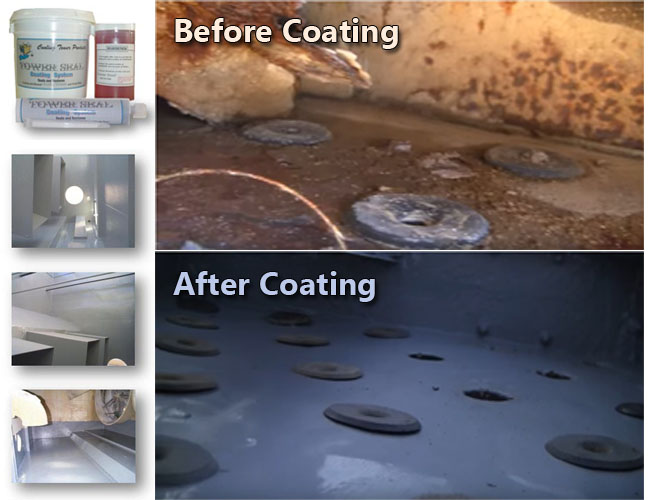 Cooling Tower Coatings Before & After
