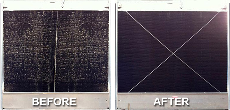 Cooling Tower Rebuilt - Before & After Photos
